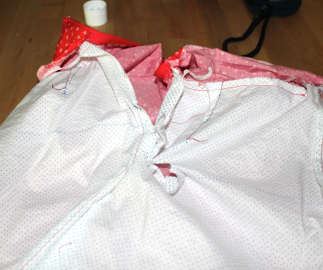 Skirt lining CHEWED by the serger just as it was done (sigh); had to make a second one.